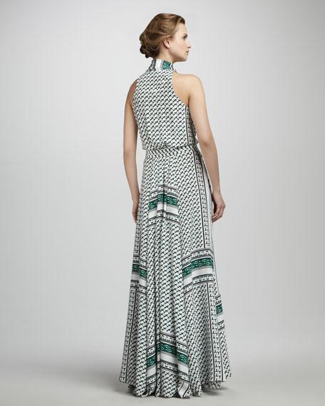 Printed Tie Maxi Dress