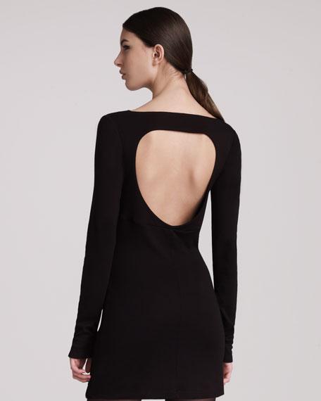 Cutout-Back Jersey Dress