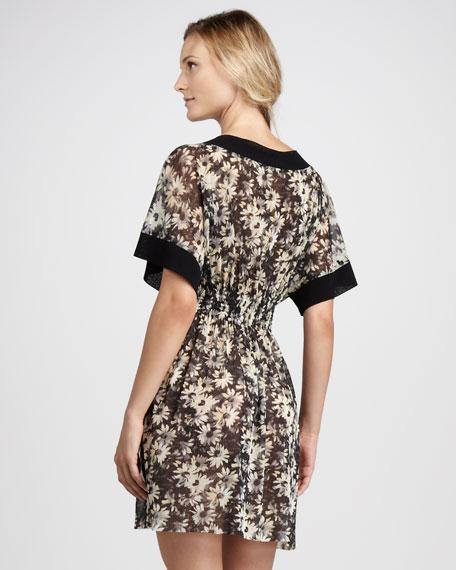 Daisy-Print Dress Coverup