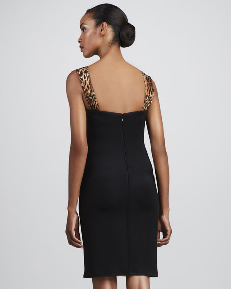 Animal-Print Cocktail Dress