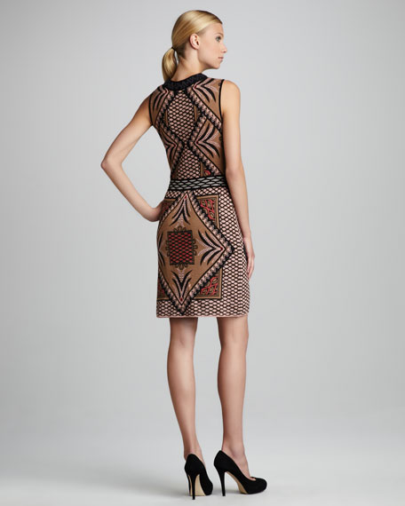 Diamond Intarsia Dress