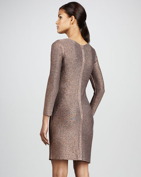 Metallic Knit Cocktail Dress
