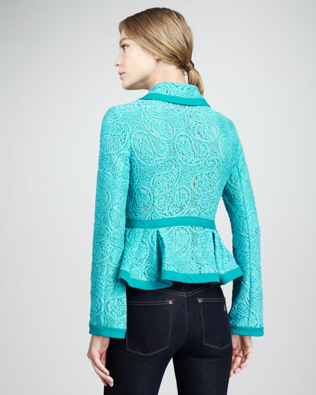 Summer Flame Paisley-Lace Jacket