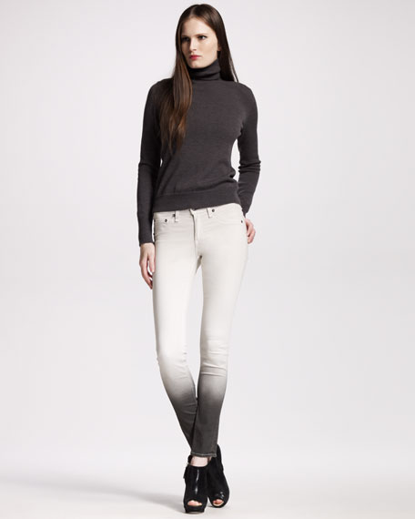 The Legging, Winter White Ombre