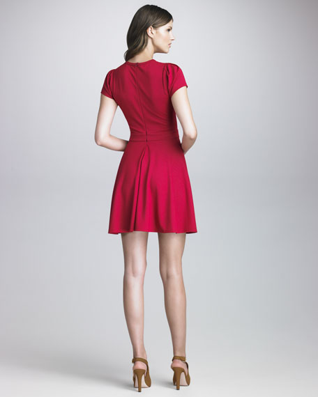 Bow-Detailed Short-Sleeve Dress