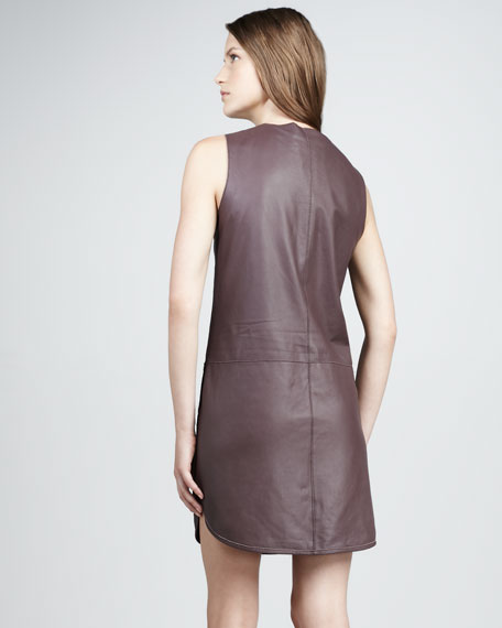 Runway Leather Dress