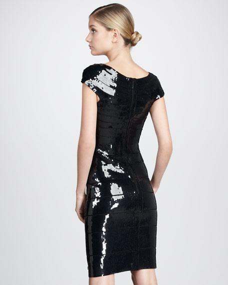 Sequined Bandage Dress