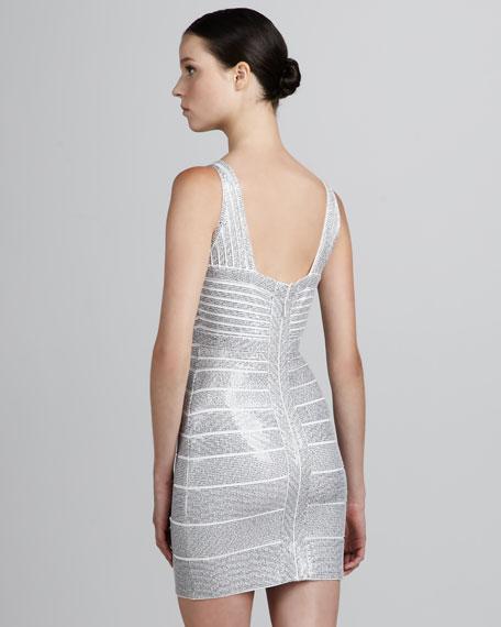 Sequined V-Neck Bandage Dress