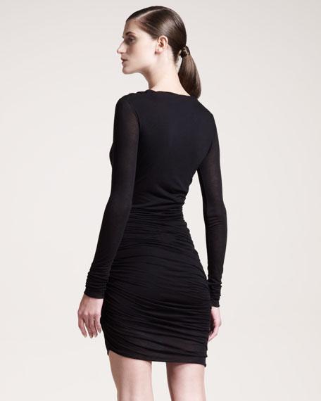 Twisted Jersey Dress, Black