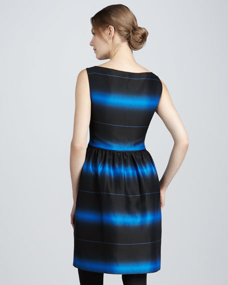 Lida Striped Dress, Blue Aster
