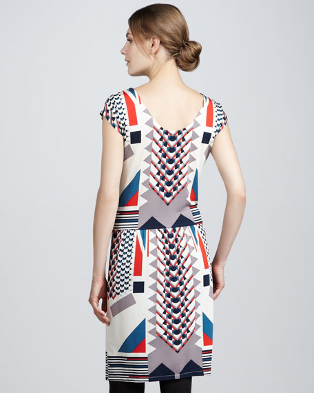 Tinka Printed Jersey Dress