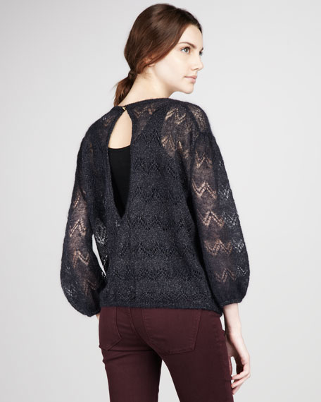 Milly Pointelle Sweater