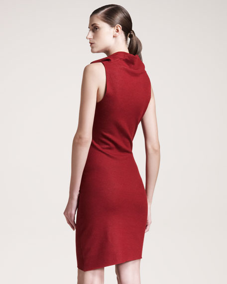 Folded Wool Dress