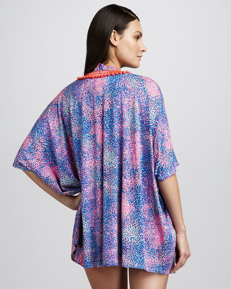 Ditsy Bead-Neck Coverup