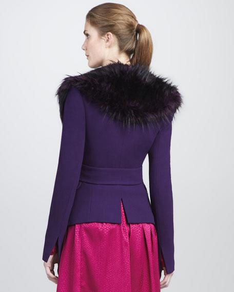 Nadia Faux-Fur-Collar Jacket
