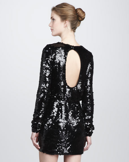 Selita Sequined Blouson Dress