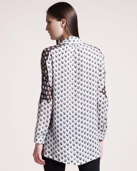 Gayatri Chevron-Print Shirt
