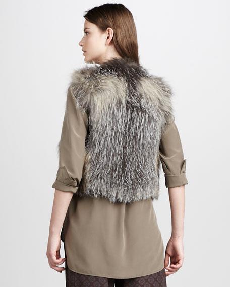 Cross Fox Fur Vest