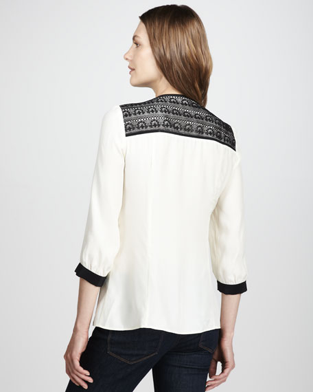Splendor Bow-Front Blouse