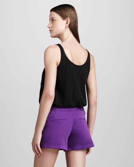 Cady Cuffed Shorts, Purple