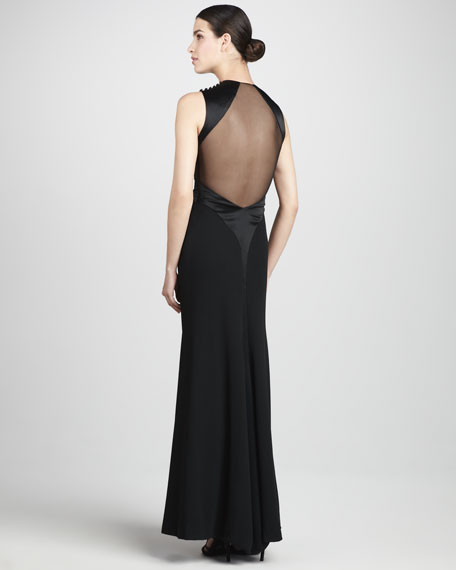 Illusion-Back Gown