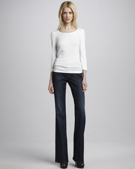 Jessie Curvy Boot-Cut Jeans