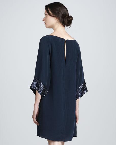 Elisa Sequin-Cuff Dress