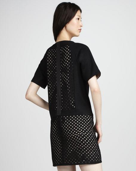 Laser-Cut Shift Dress