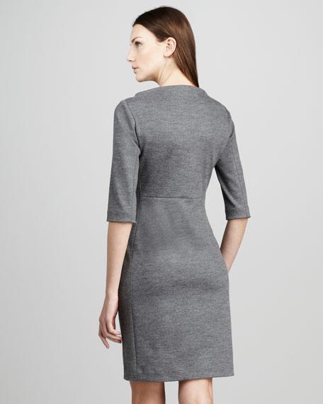 Thandi Half-Sleeve Dress, Heather Gray