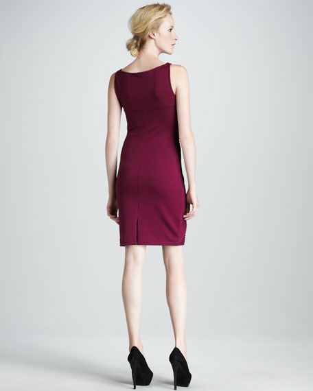 Rib-Panel Crisscross Dress