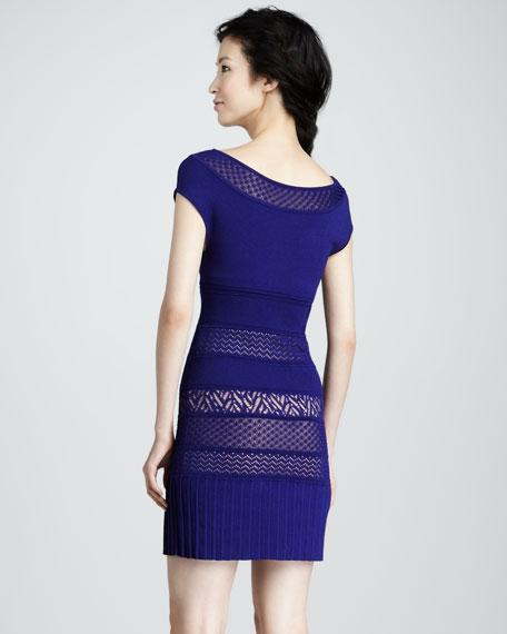 Mix-Pattern Knit Dress