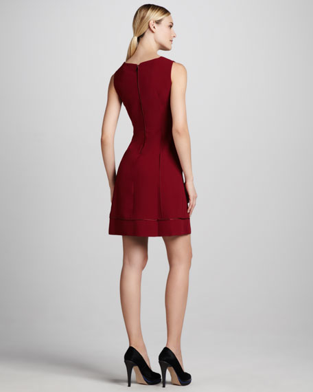 Callie Satin-Trim Dress