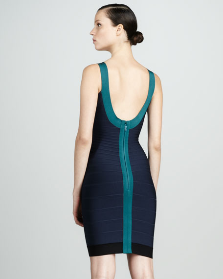 Contrast Bandage Dress