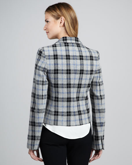 Nillian Plaid Felt Blazer