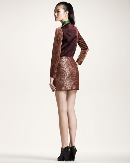 Slit Metallic Skirt