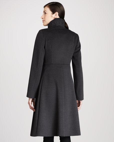 Button Detail Wool Coat