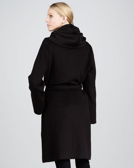 Shawl-Collar Wool Coat