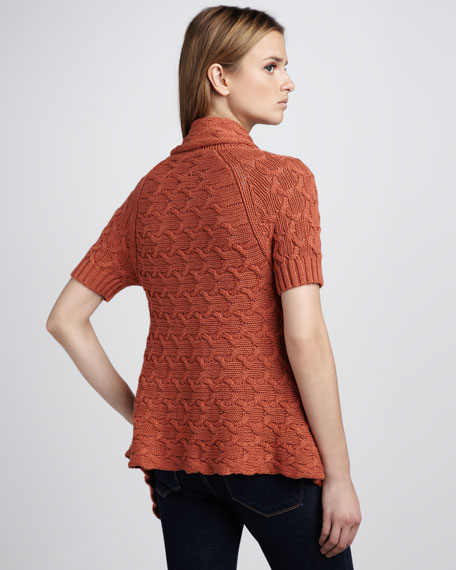 Short-Sleeve Cable Sweater