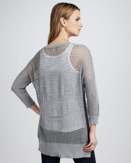 Skull-Back Crochet Sweater