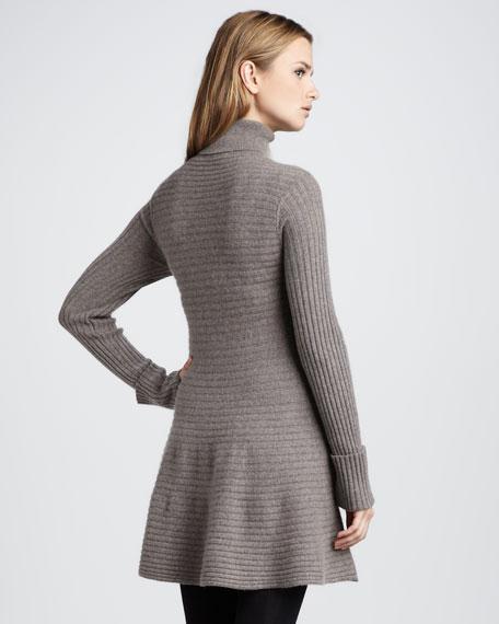 Flared Turtleneck Dress