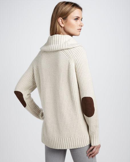 Cowl-Neck Cashmere Sweater