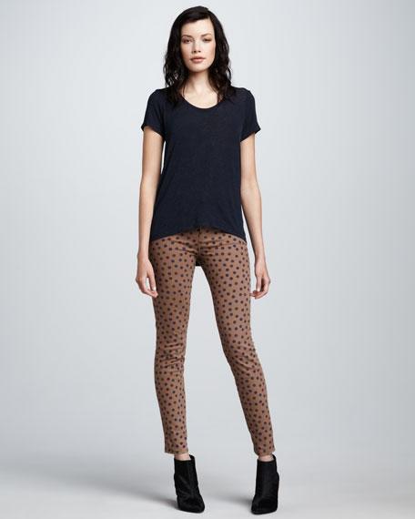 Polka-Dot Skinny Jeans