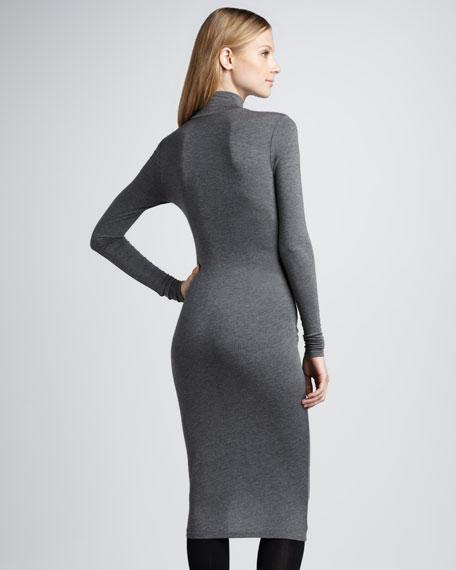 Slim Slub Dress