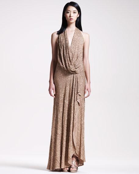 BG 111th Anniversary Beaded Halter Gown