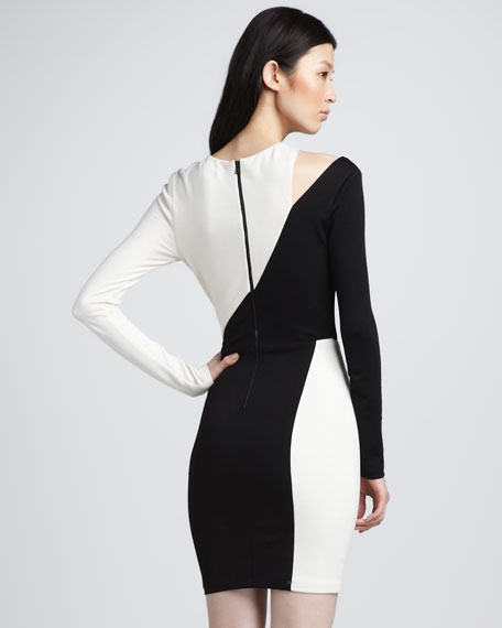 Josefina Two-Tone Jersey Dress
