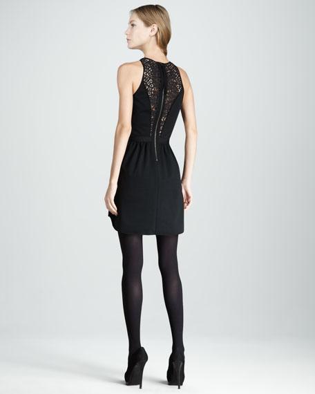 Lace-Panel Ponte Dress