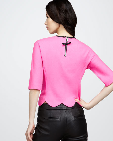Isadora Leather-Bow Top