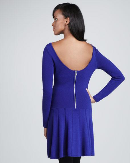 Sandra Drop-Waist Dress, Helio