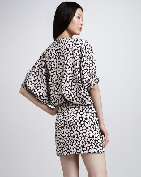 Edna Spot-Print Dress