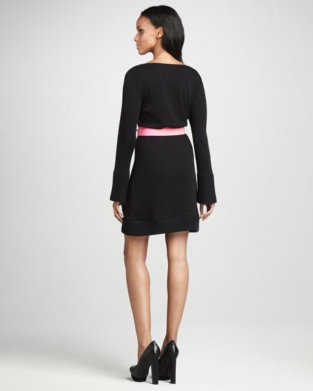 Belted Sweaterdress